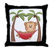 Lazy Monkey Throw Pillow