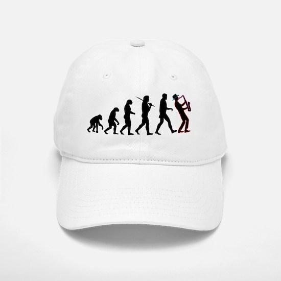 Saxophone Player Evolution Baseball Baseball Cap