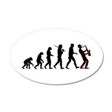 Saxophone Player Evolution Wall Decal