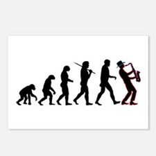 Saxophone Player Evolution Postcards (Package of 8