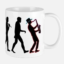 Saxophone Player Evolution Mug