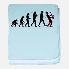 Saxophone Player Evolution baby blanket