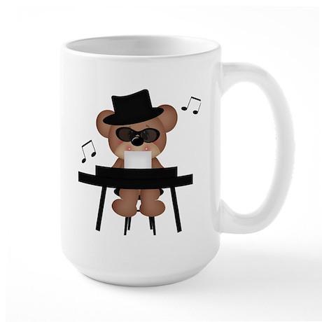Piano playing bear Mug