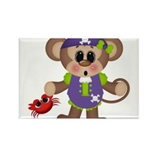 pirate monkey with crab Rectangle Magnet