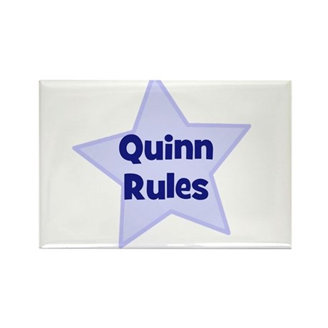 Quinn Rules Rectangle Magnet