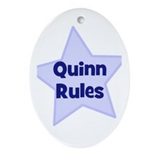 Quinn Rules Oval Ornament