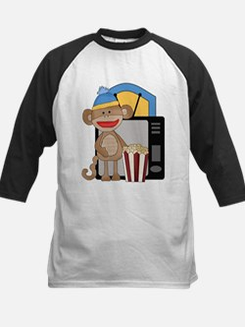 movie night sock monkey Baseball Jersey