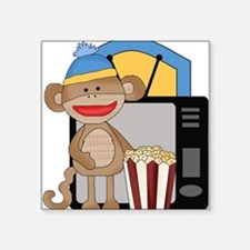 movie night sock monkey Sticker