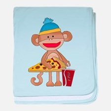 Cute Sock monkeys baby blanket