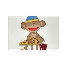 Funny Pizza Rectangle Magnet