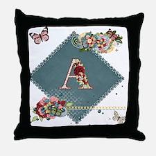 Dreamland Monogram A Throw Pillow