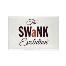 """The SWaNK Evolution"" on White Rectangle Magnet"