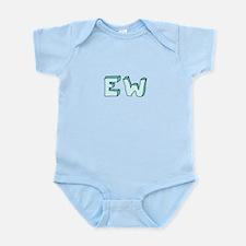 blue 'EW' Body Suit
