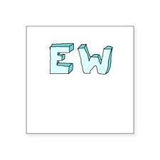 blue 'EW' Sticker
