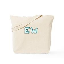 blue 'EW' Tote Bag