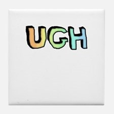 Rainbow Gradient 'UGH' Tile Coaster