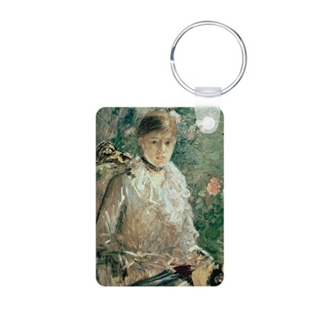 (oil on canvas) - Aluminum Photo Keychain