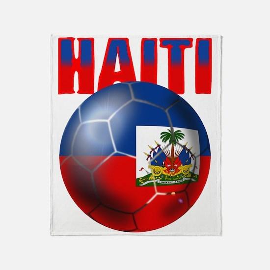 Haitian Football Throw Blanket