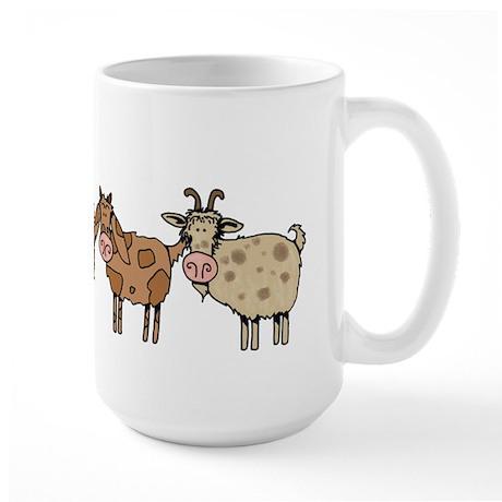 goat parade Large Mug