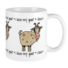 i love my goat Small Mugs