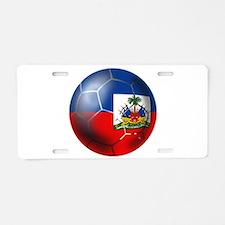 Haiti Soccer Ball Aluminum License Plate