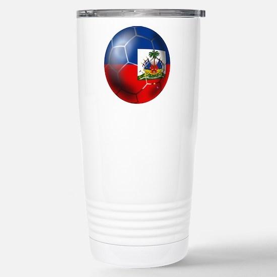 Haiti Soccer Ball Stainless Steel Travel Mug