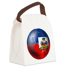 Haiti Soccer Ball Canvas Lunch Bag