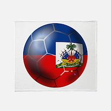 Haiti Soccer Ball Throw Blanket