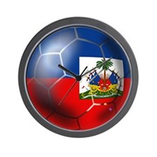 Haiti Soccer Ball Wall Clock