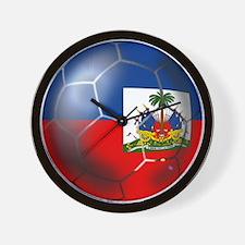 Haiti Soccer Ball Wall Clock