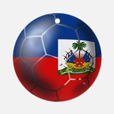 Haiti Soccer Ball Ornament (Round)