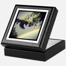 double rainbow Keepsake Box