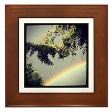 double rainbow Framed Tile