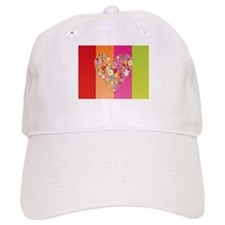 Flower Heart Baseball Cap