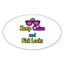Crown Sunglasses Keep Calm And Pick Locks Decal