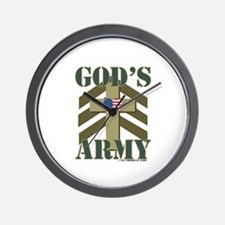 GODS ARMY Wall Clock