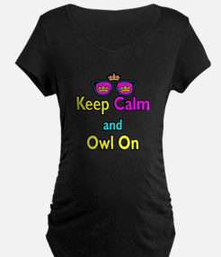 Crown Sunglasses Keep Calm And Owl On T-Shirt
