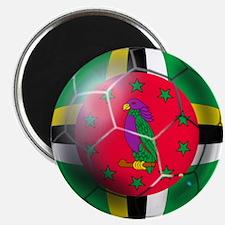 Dominica Soccer Ball Magnet