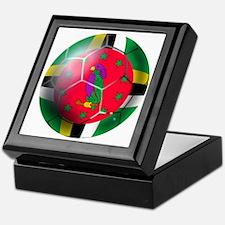 Dominica Soccer Ball Keepsake Box