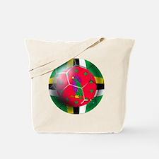 Dominica Soccer Ball Tote Bag
