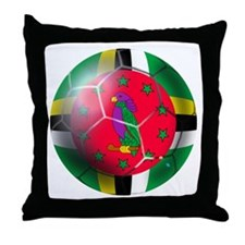 Dominica Soccer Ball Throw Pillow