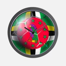 Dominica Soccer Ball Wall Clock