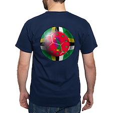 Dominica Soccer Ball T-Shirt