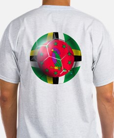 Dominica Soccer Ball T-Shirt
