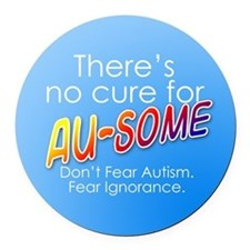 No Cure for Au-some Round Car Magnet