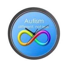 Autism. different, not less Wall Clock