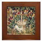 Unicorn Tapestry Framed Tile