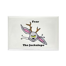 Fear The Jackalope III Rectangle Magnet