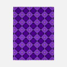 Purple Diamond Pattern Twin Duvet