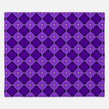 Purple Diamond Pattern King Duvet